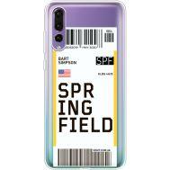 Силиконовый чехол BoxFace Huawei P20 Pro Ticket Springfield (36195-cc93)