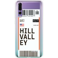 Силиконовый чехол BoxFace Huawei P20 Pro Ticket Hill Valley (36195-cc94)