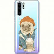Силиконовый чехол BoxFace Huawei P30 Pro Dog Coffeeman (36856-cc70)