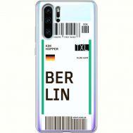 Силиконовый чехол BoxFace Huawei P30 Pro Ticket Berrlin (36856-cc80)