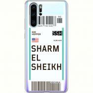Силиконовый чехол BoxFace Huawei P30 Pro Ticket Sharmel Sheikh (36856-cc90)