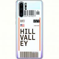 Силиконовый чехол BoxFace Huawei P30 Pro Ticket Hill Valley (36856-cc94)
