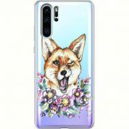 Силиконовый чехол BoxFace Huawei P30 Pro Winking Fox (36856-cc13)