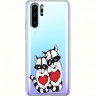 Силиконовый чехол BoxFace Huawei P30 Pro Raccoons in love (36856-cc29)