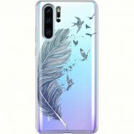 Силиконовый чехол BoxFace Huawei P30 Pro Feather (36856-cc38)