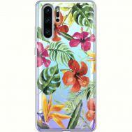 Силиконовый чехол BoxFace Huawei P30 Pro Tropical Flowers (36856-cc43)