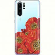 Силиконовый чехол BoxFace Huawei P30 Pro Red Poppies (36856-cc44)