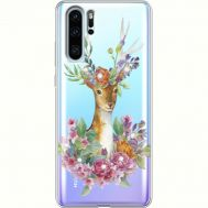 Силиконовый чехол BoxFace Huawei P30 Pro Deer with flowers (936856-rs5)