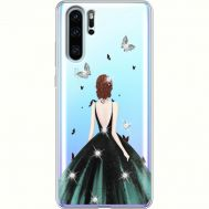 Силиконовый чехол BoxFace Huawei P30 Pro Girl in the green dress (936856-rs13)