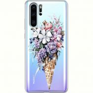 Силиконовый чехол BoxFace Huawei P30 Pro Ice Cream Flowers (936856-rs17)