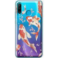 Силиконовый чехол BoxFace Huawei P30 Lite Japanese Koi Fish (36872-cc3)