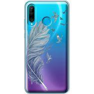 Силиконовый чехол BoxFace Huawei P30 Lite Feather (36872-cc38)