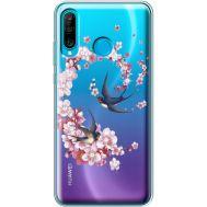 Силиконовый чехол BoxFace Huawei P30 Lite Swallows and Bloom (936872-rs4)