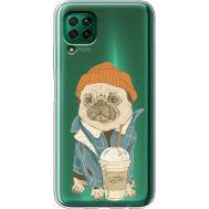 Силиконовый чехол BoxFace Huawei P40 Lite Dog Coffeeman (39380-cc70)