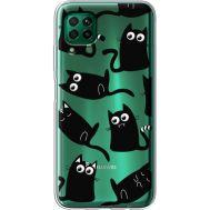 Силиконовый чехол BoxFace Huawei P40 Lite с 3D-глазками Black Kitty (39380-cc73)
