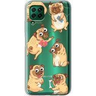 Силиконовый чехол BoxFace Huawei P40 Lite с 3D-глазками Pug (39380-cc77)