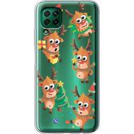 Силиконовый чехол BoxFace Huawei P40 Lite с 3D-глазками Reindeer (39380-cc74)