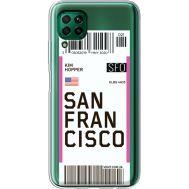 Силиконовый чехол BoxFace Huawei P40 Lite Ticket San Francisco (39380-cc79)