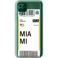 Силиконовый чехол BoxFace Huawei P40 Lite Ticket Miami (39380-cc81)