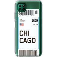 Силиконовый чехол BoxFace Huawei P40 Lite Ticket Chicago (39380-cc82)