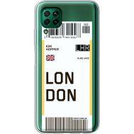 Силиконовый чехол BoxFace Huawei P40 Lite Ticket London (39380-cc83)