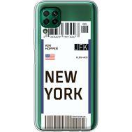 Силиконовый чехол BoxFace Huawei P40 Lite Ticket New York (39380-cc84)