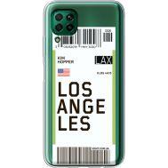 Силиконовый чехол BoxFace Huawei P40 Lite Ticket Los Angeles (39380-cc85)