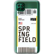 Силиконовый чехол BoxFace Huawei P40 Lite Ticket Springfield (39380-cc93)