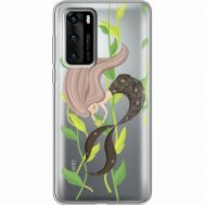 Силиконовый чехол BoxFace Huawei P40 Cute Mermaid (39747-cc62)