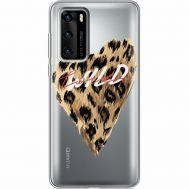 Силиконовый чехол BoxFace Huawei P40 Wild Love (39747-cc64)