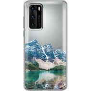 Силиконовый чехол BoxFace Huawei P40 Blue Mountain (39747-cc68)