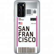 Силиконовый чехол BoxFace Huawei P40 Ticket San Francisco (39747-cc79)