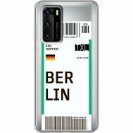 Силиконовый чехол BoxFace Huawei P40 Ticket Berrlin (39747-cc80)