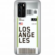 Силиконовый чехол BoxFace Huawei P40 Ticket Los Angeles (39747-cc85)