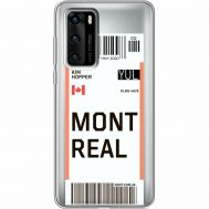 Силиконовый чехол BoxFace Huawei P40 Ticket Monreal (39747-cc87)