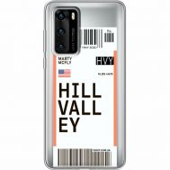 Силиконовый чехол BoxFace Huawei P40 Ticket Hill Valley (39747-cc94)