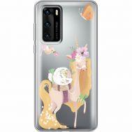 Силиконовый чехол BoxFace Huawei P40 Uni Blonde (39747-cc26)