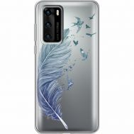 Силиконовый чехол BoxFace Huawei P40 Feather (39747-cc38)