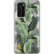 Силиконовый чехол BoxFace Huawei P40 Banana Leaves (39747-cc28)