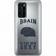 Силиконовый чехол BoxFace Huawei P40 Sexy Brain (39747-cc47)