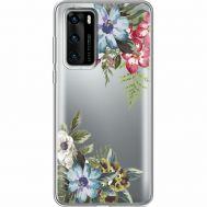 Силиконовый чехол BoxFace Huawei P40 Floral (39747-cc54)