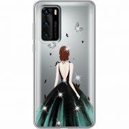 Силиконовый чехол BoxFace Huawei P40 Girl in the green dress (939747-rs13)