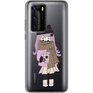Силиконовый чехол BoxFace Huawei P40 Pro Winter Morning Girl (39751-cc61)