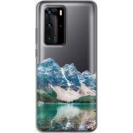 Силиконовый чехол BoxFace Huawei P40 Pro Blue Mountain (39751-cc68)