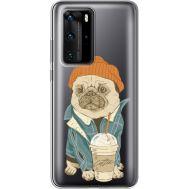 Силиконовый чехол BoxFace Huawei P40 Pro Dog Coffeeman (39751-cc70)