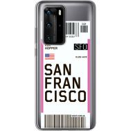 Силиконовый чехол BoxFace Huawei P40 Pro Ticket San Francisco (39751-cc79)