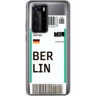 Силиконовый чехол BoxFace Huawei P40 Pro Ticket Berrlin (39751-cc80)