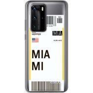 Силиконовый чехол BoxFace Huawei P40 Pro Ticket Miami (39751-cc81)