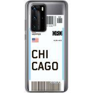 Силиконовый чехол BoxFace Huawei P40 Pro Ticket Chicago (39751-cc82)