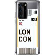 Силиконовый чехол BoxFace Huawei P40 Pro Ticket London (39751-cc83)